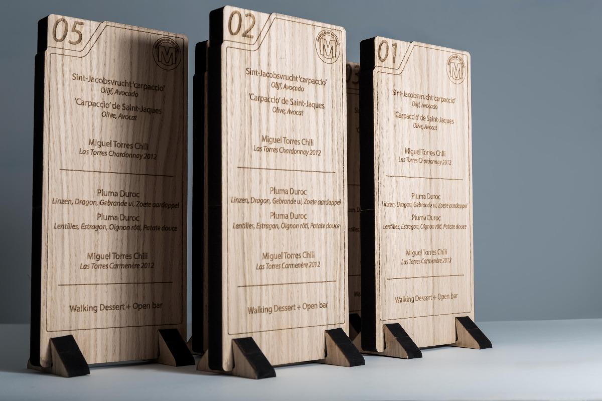 Roularta Wooden menucards