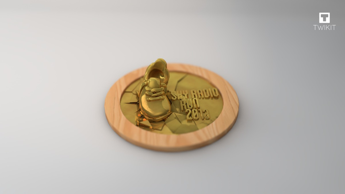 Sky radio run medal