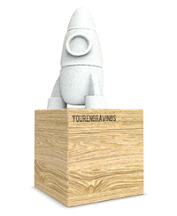 3D Trophy Factory Rocket trophy