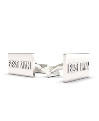 Cufflink Rectangular Text