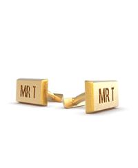 Cufflink Round Rectangular Initials