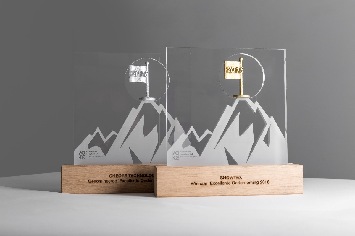 VOKA Excellente onderneming 2016 trophy gold and silver