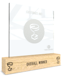 glass of fame template custom award