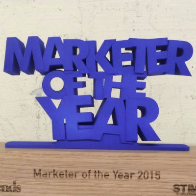 Marketer of the year Trophäe