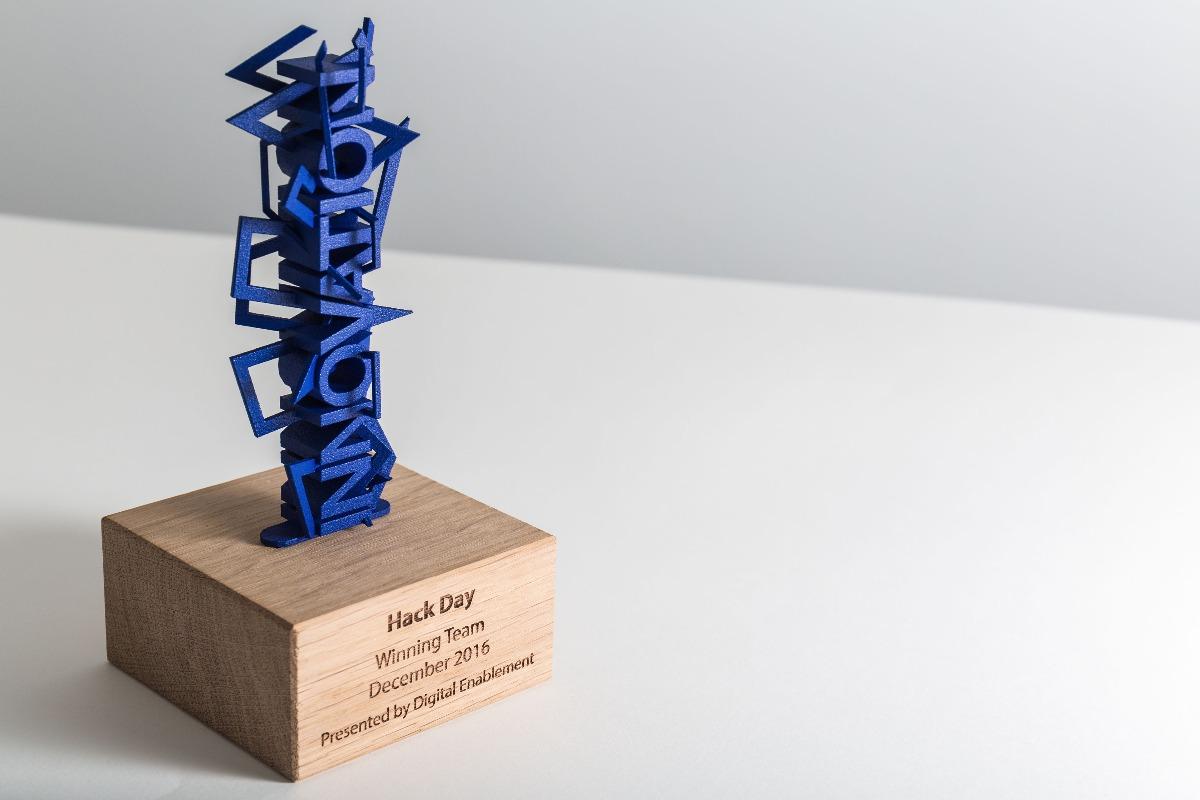 Hack day vertical totem award