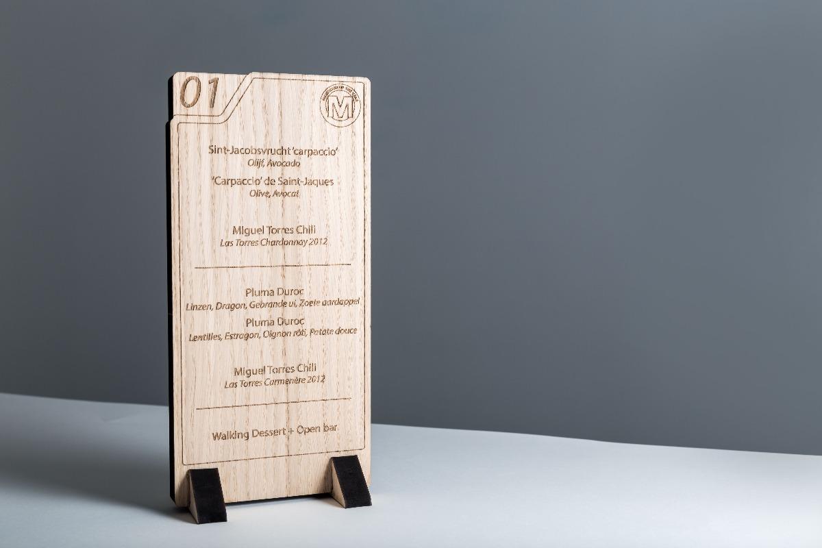Roularta Wooden menucard