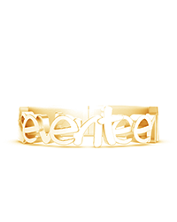 Full Text Ring Gold Plated