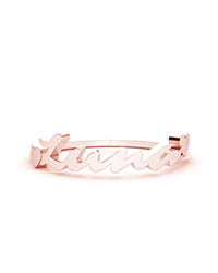 personalized rings, text ring, name rings